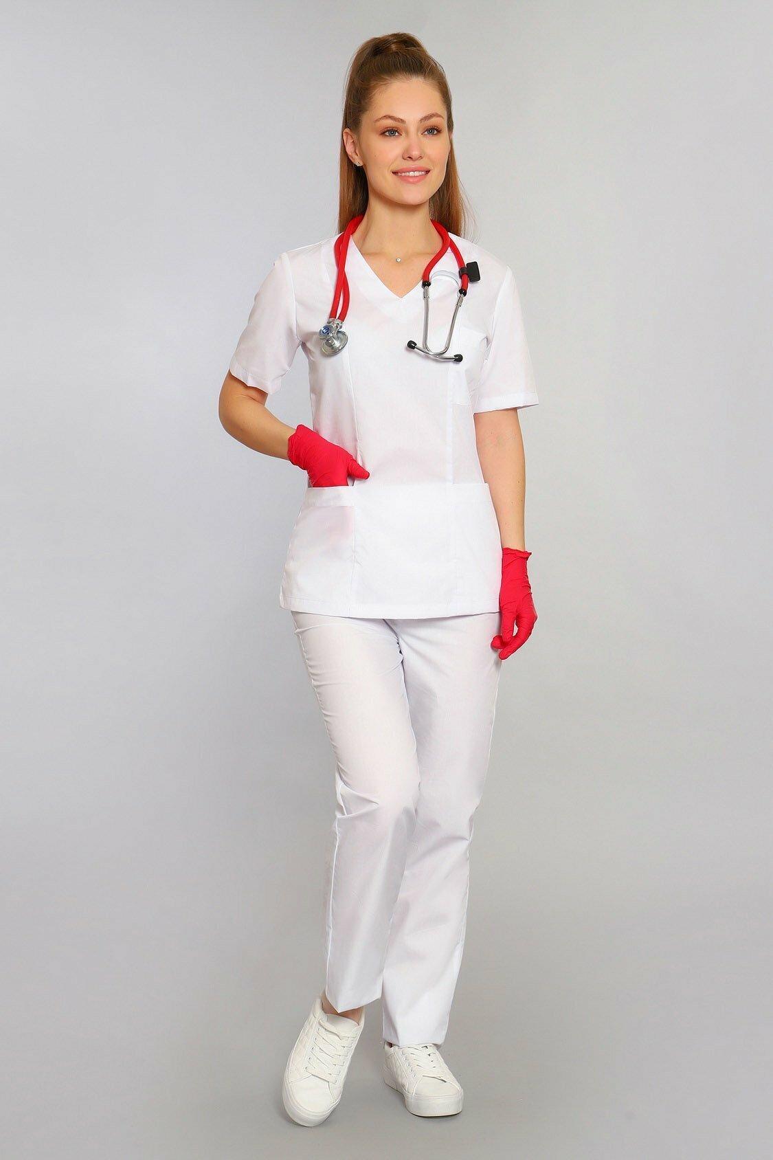 белый хирургический костюм